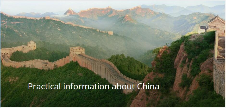 Practical information about China